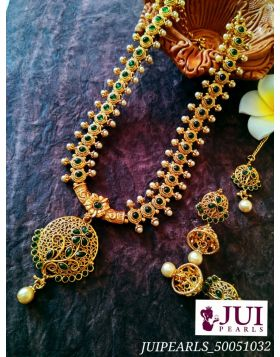 JUI PEARLS ETHNIC TEMPLE JEWELRY NECKLACE